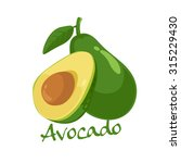 avocado vector illustration | Shutterstock .eps vector #315229430