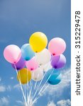 Colorful Party Balloon Floatin...
