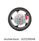 Wheel Motorcycles On White...