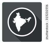 india map dark sign icon....
