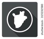 burundi map dark sign icon....