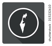 israel map dark sign icon....
