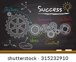business gears and success plan | Shutterstock .eps vector #315232910