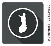 finland map dark sign icon....