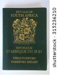 a child south african passport | Shutterstock . vector #315236210