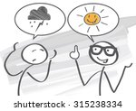 pessimist and optimist discuss  | Shutterstock .eps vector #315238334