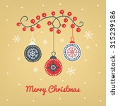 christmas greeting card with... | Shutterstock .eps vector #315239186