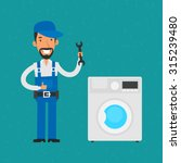 repairman repairing household... | Shutterstock .eps vector #315239480