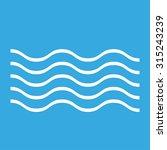 wave outline linear symbol flat ... | Shutterstock . vector #315243239