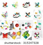 set of abstract geometric paper ... | Shutterstock .eps vector #315247328