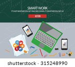 smart work. it's not whether... | Shutterstock .eps vector #315248990