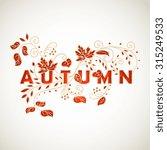 vector decorative autumn  card... | Shutterstock . vector #315249533