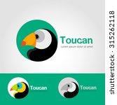 symbol design set.bird toucan... | Shutterstock .eps vector #315262118