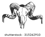 illustration with goat skull. ... | Shutterstock .eps vector #315262910