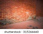 Old Brick Wall Weathered...