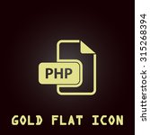 php file extension. gold flat...