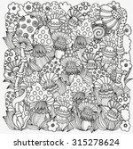 pattern for coloring book in... | Shutterstock .eps vector #315278624