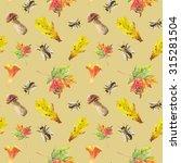 watercolor autumn set | Shutterstock . vector #315281504