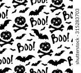 vector halloween holiday... | Shutterstock .eps vector #315283703