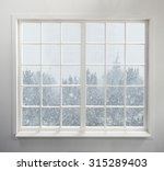 modern residential window with...   Shutterstock . vector #315289403