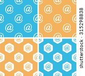 email sign pattern set  simple...