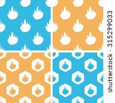 flame pattern set  simple and...