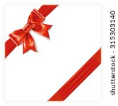 red gift bow | Shutterstock .eps vector #315303140