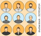 nine human avatars. five male ... | Shutterstock .eps vector #315316514