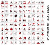 christmas icons and elements... | Shutterstock .eps vector #315318203