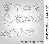 doodle smoke explosions and... | Shutterstock .eps vector #315325724