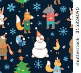 winter vector seamless pattern... | Shutterstock .eps vector #315326090