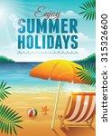 summer holidays vector... | Shutterstock .eps vector #315326600