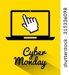 cyber monday deals  design ... | Shutterstock .eps vector #315336098