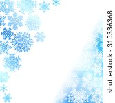 snowflake christmas background | Shutterstock .eps vector #315336368