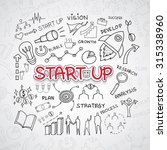 start up text  with creative... | Shutterstock .eps vector #315338960