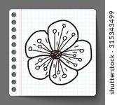 flower doodle | Shutterstock . vector #315343499