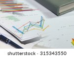 business graph on the desk.... | Shutterstock . vector #315343550