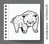 bear doodle | Shutterstock . vector #315344129