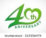 40 years anniversary template... | Shutterstock .eps vector #315356474