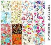 floral seamless pattern set  ... | Shutterstock .eps vector #315361388
