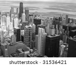 a view from above as chicago... | Shutterstock . vector #31536421