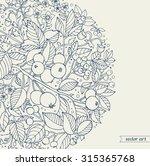 forest flowers  wild berries... | Shutterstock .eps vector #315365768