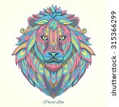 lion pastel color ornament... | Shutterstock . vector #315366299