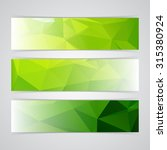 modern green vector banner low... | Shutterstock .eps vector #315380924