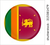 sri lanka flag button on white | Shutterstock .eps vector #315381479