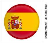 spanish flag button on white | Shutterstock .eps vector #315381500