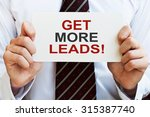 get more leads  card | Shutterstock . vector #315387740