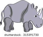 rhino vector illustration | Shutterstock .eps vector #315391730