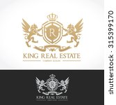 king real estate logo  luxury... | Shutterstock .eps vector #315399170