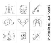 deer hunter icons with shotgun  ...   Shutterstock .eps vector #315400568